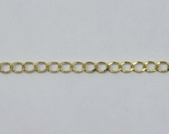 Bright Gold, 4mm Curb Chain CC142
