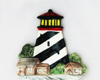Lighthouse Ceramic Tea Bag Holder Small Spoon Rest Catch All Nautical Collection