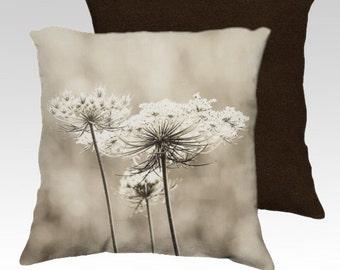decorative pillow cover, throw pillow, photography pillow cover, home decor, queen annes lace pillow, flower pillow,