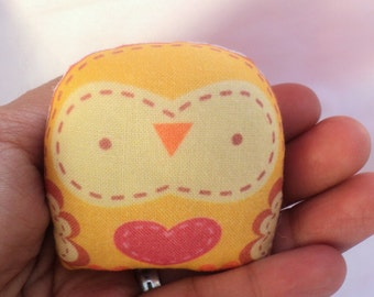 "cute mini owl -- "" öökull "" (yellow) -- charm /decorative softie/ ornament/ decoration/plush owl decor/ kawaii-- ( ship in 1 day )"