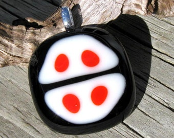 Kawaii Glob Fused Glass Pendant