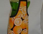 Orange on Black Fun Kitchen Dish Soap Bottle Apron Cover Staffer Party Favor Kitchen Decor Fun