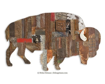 On the Range Bison/Buffalo Metal Wall Sculpture Bison Wall Sculpture