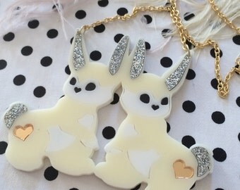 Funny Bunny Acrylic Necklace