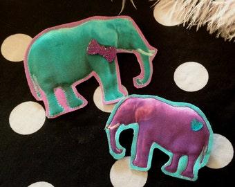 Neon Elephant Badge Set