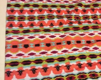 Stretch Jersey Knit Fabric Abstract Pattern 1 Yard