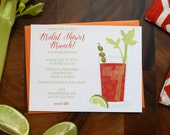 CUSTOM Bloody Mary Invites - Set of 70