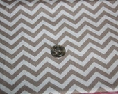 Chevron - David Textiles Fabric - One yard - Brown on brown