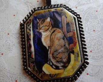 Tabby Cat Pendant Pretty Kitty