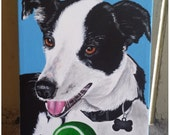 Custom Pet Portrait Size 5x7 inches on Canvas Panel