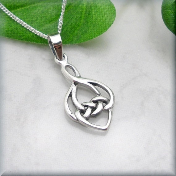 Celtic knot love knot necklace celtic jewelry irish like this item aloadofball Image collections