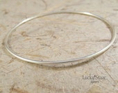 JUST Plain BANGLES - Sterling Silver Smooth Round Bangles - Individual Sterling Silver Bangle