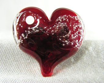 Glass memorial heart (pet) - handmade by Christine Hansen