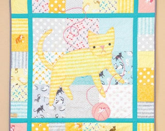 Kitty Blankey Quilt Sewing Pattern - Printed Booklet