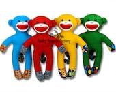 NO SOCK Sock Monkey easy toy sewing pattern PDF