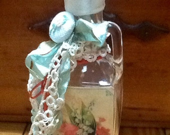 Altered perfume bottle Vintage shabby chic style