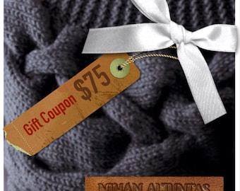 Gift Coupon -75 dollars-