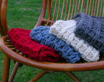 Knitted Scarf in Chunky / Bulky Wool by Sheeps Clothing.
