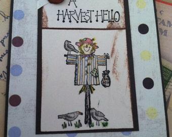 A HARVEST HELLO Card