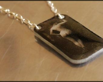 Vintage Nude Necklace - SALE