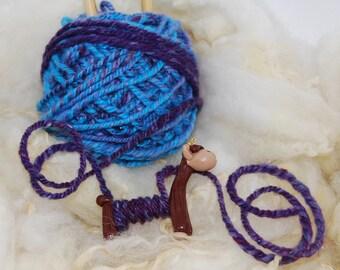 Brown Alpaca WPI tool gauge for handspun or any yarn - Polymer Clay