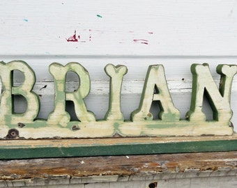 Custom Word, Personalized Sign, Reclaimed Wood Sign, Wooden Sign, Custom Italian Sign, Custom Name,