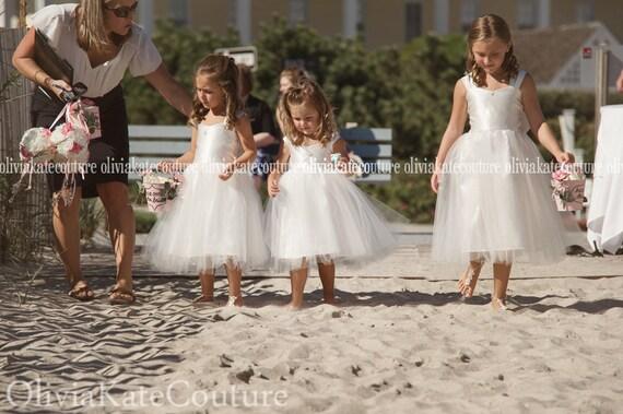 Beach Wedding Flower Girl Dress