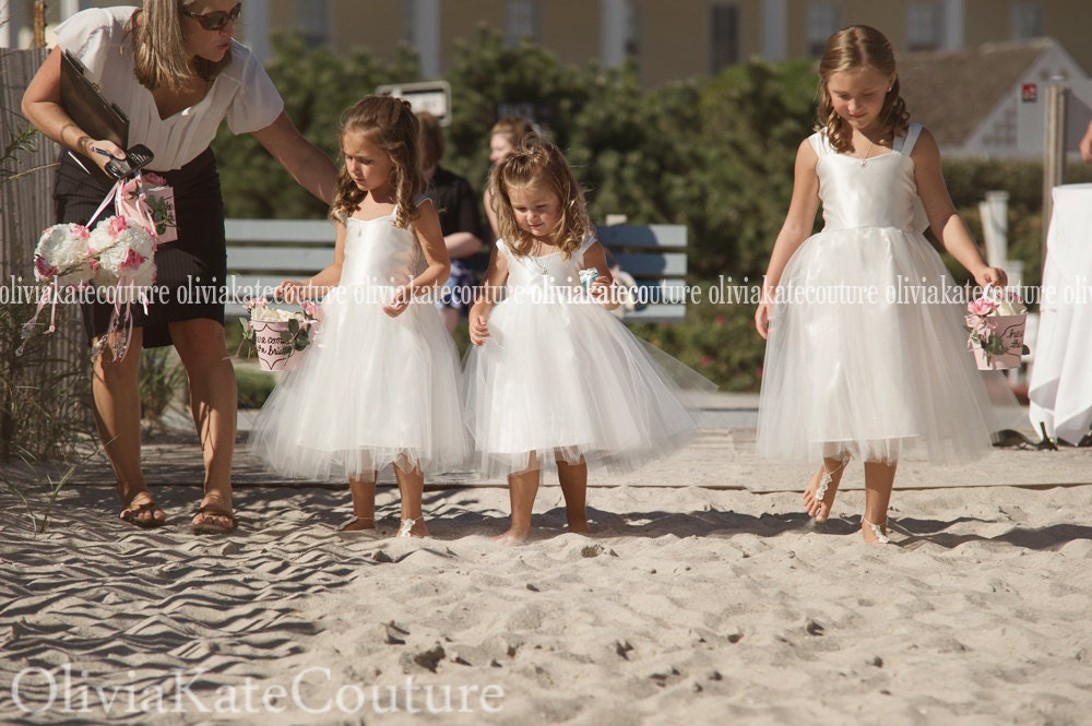 beach wedding flower girl dress wedding flower dress 1585