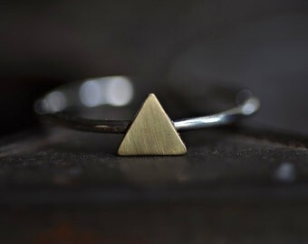 Triangle Ring Stacker Made to Order In Custom Size