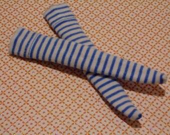 Blythe / DAL Socks - Thin Blue Stripes