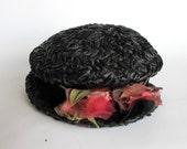 Chapeau de paille Vintage - habillage, projet ou rétro shabby