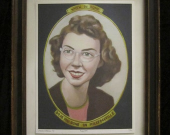 Limited Edition 9x12 Print - Flannery O'Connor portrait