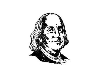 Benjamin Franklin Rubber Stamp Ben