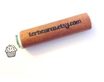 cupcake peg rubber stamp