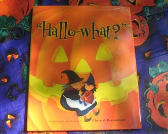 Vintage Hallo-What? book by Christel Desmoinaux Children's Halloween Book