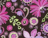 Michael Miller Boho Blossom Orchid Fabric - REMNANT Size 28 Inches by 44 Inches