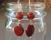 Rusty Orange Dangle Earrings