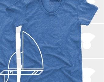 Sailboat Women's TShirt, Tee, Girls, Womens Top, S,M,L,Xl, Sailing, Nautical, Boating, Cute, Boat, Blue, Shirt (5 Colors) T-Shirt for Women