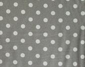 Japanese Kei Fabric - linen blend dots - natural on grey