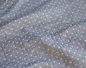 Japanese Fabric triple gauze - reversible dots - navy greyish blue - 50cm