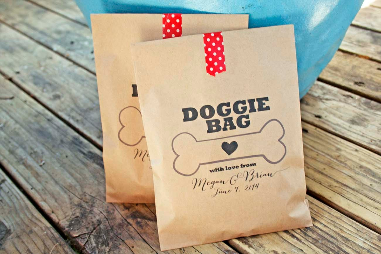 Wedding Gift Bags Etsy : Wedding Favor Doggie Bag Dog Treat Buffet Bag by mavora on Etsy