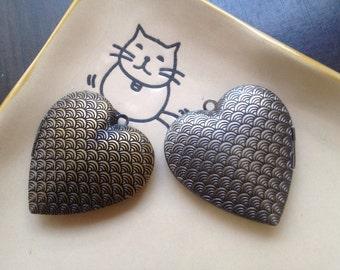 GIANT HEART Locket Fan Print 40x40mm - Code 166.964