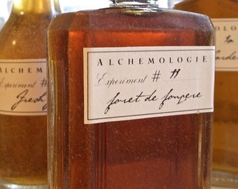 Foret de Fougere Natural Cologne in a Vintage Bottle Artisanal Botanical Fragrance Perfume Small Batch Handmade in Brooklyn, NY