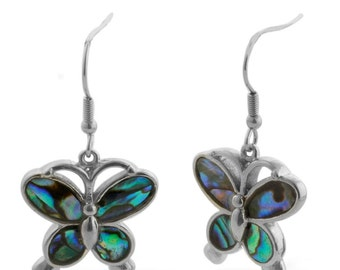 butterfly Creature Couture - Butterfly Earrings with Abalone Shell Spring Celebrations Mother's Day Gifts