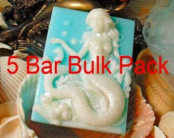 5 Bar Bulk Pack Handmade Vegan Soap Mediterranean Garden Spa Scented