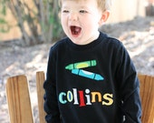 CRAYONS Boutique Personalized Custom Applique Tee BTS