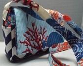 Cross Body Bag or Purse Michael Miller Sea Life Collage Fabric