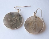 Silver Vein Autumn Brown Leaf Wire Framed Resin Earrings, Autumn Jewelry