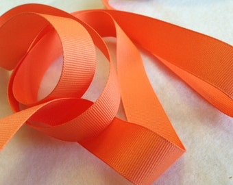 Grosgrain RIBBON - 7/8 Inch x 5 Yards - Cantaloupe Solid