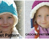 CROCHET PATTERN SET - Elsa and Anna Hat Patterns